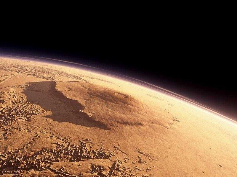 Олимп - самая высокая гора в Солнечной системе
