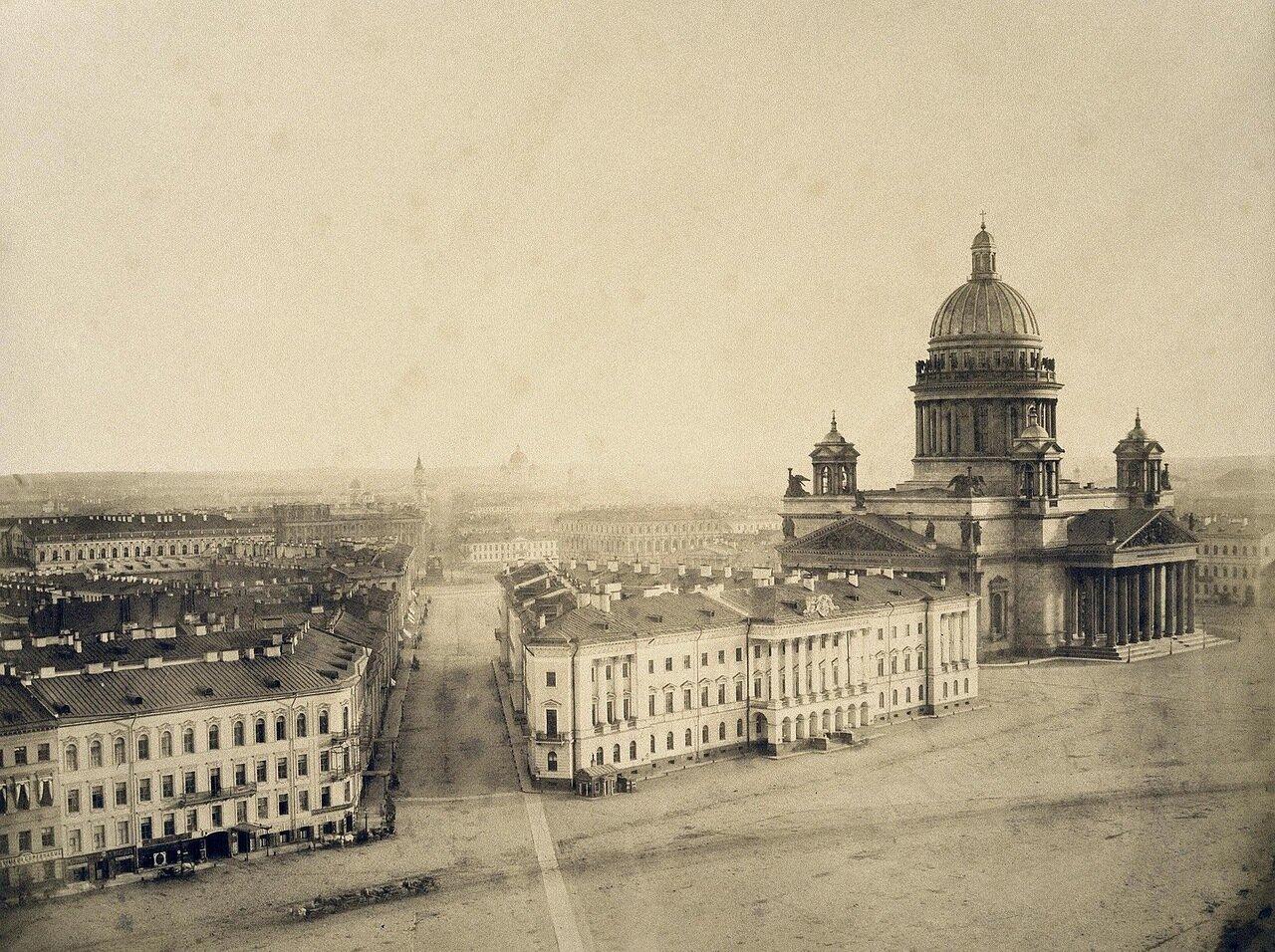 Вид Мариинской площади. 1859