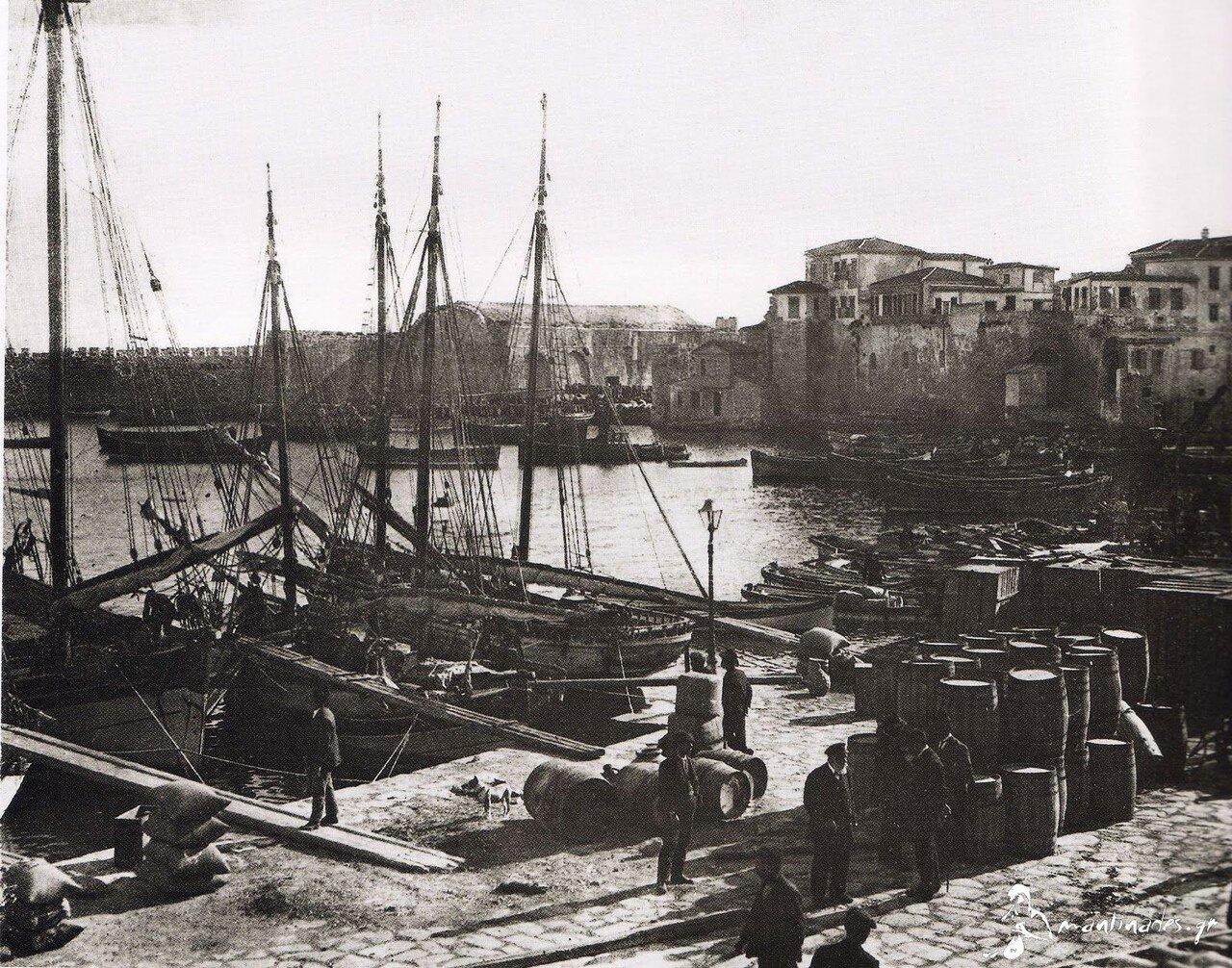 1911. Крит. Ираклион. Порт