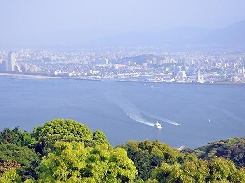能古島展望台の眺め