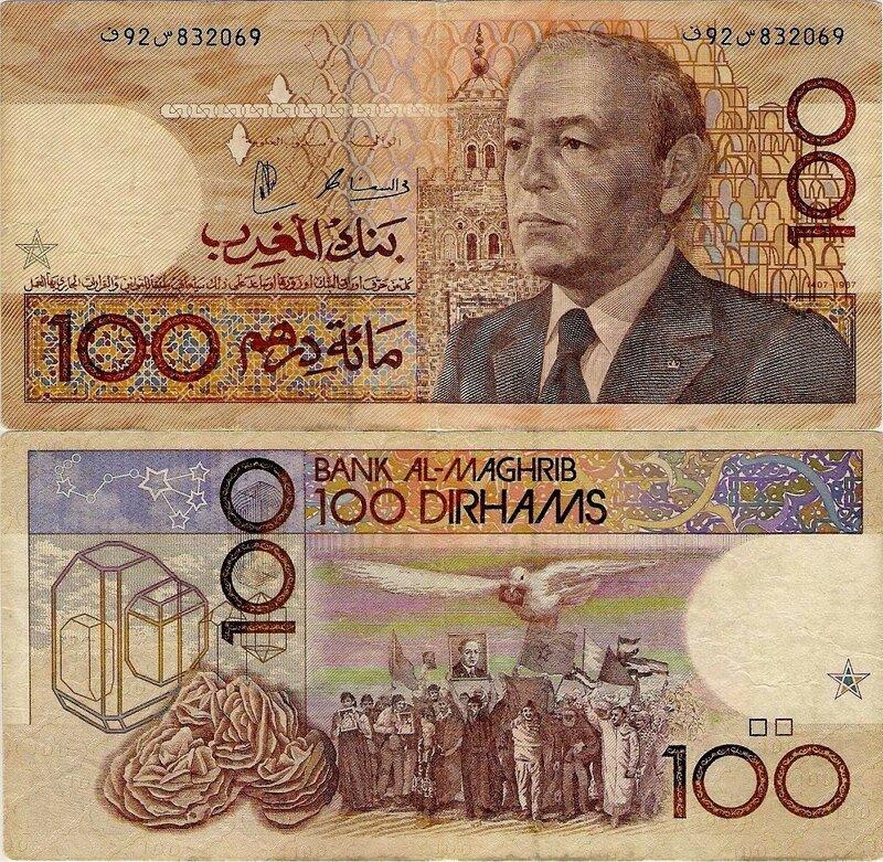 Курс марокканского дирхама к евро