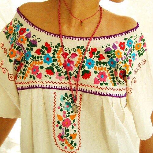 Техника мексиканской вышивкой