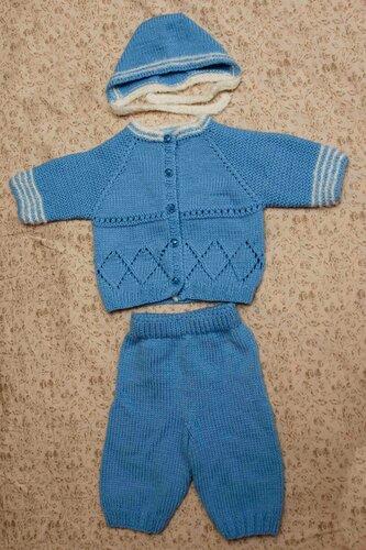 Вязание детских костюмов регланом 12