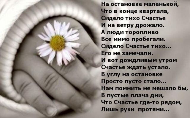 Протяни свою руку стихи