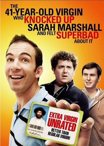 41-летний девственник который вырубил сару маршал и очень расчувствовался по этому поводу / The 41-Year-Old Virgin Who Knocked Up Sarah Marshall and Felt Superbad About It (2010/DVDRip/1400Mb/700Mb)