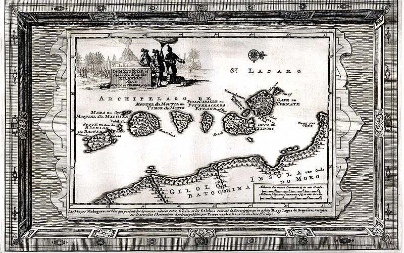 Молукки: карта 1714