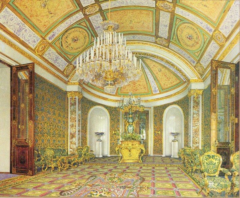 Гостиная. Большой Кремлёвский дворец. Акварель К. А. Ухтомского, 1850