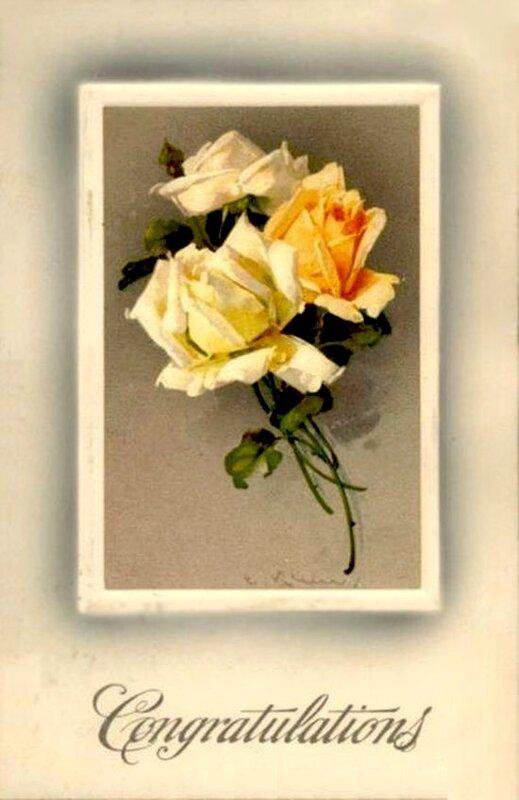 К. Кляйн. Розы. Поздравление.