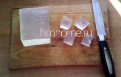 Слоёное мыло из прозрачной и белой основы