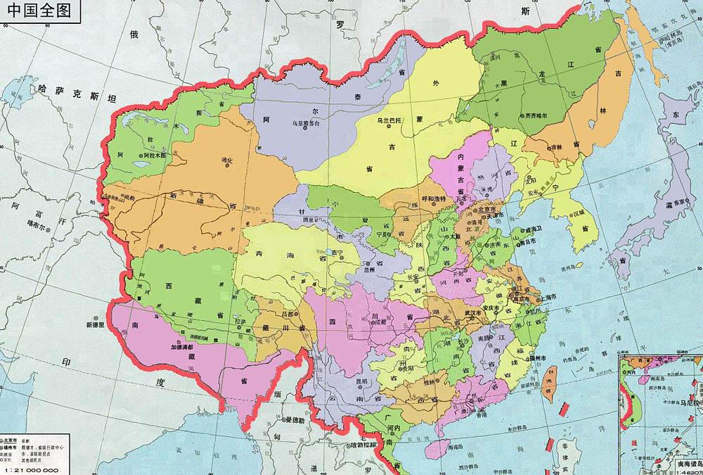"""Ну и карта Китая со """""""