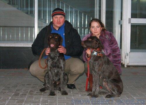 Айза и Арон после выставки им.Сабонеева 2011г
