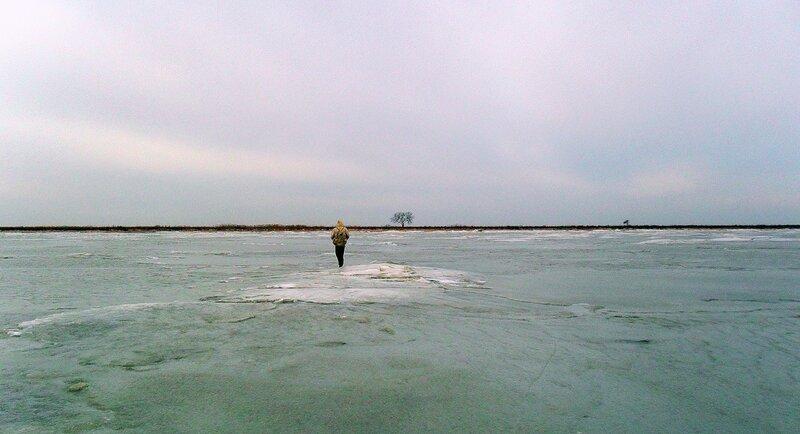 Зимний поход на Ачуевскую косу