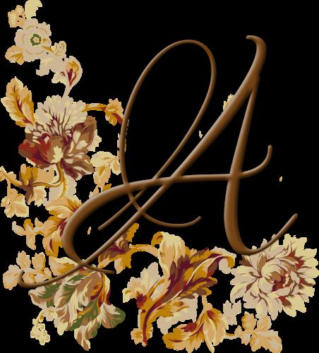 Цветочный алфавит+цифры а