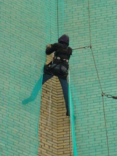 Подготовка к ремонту фасада