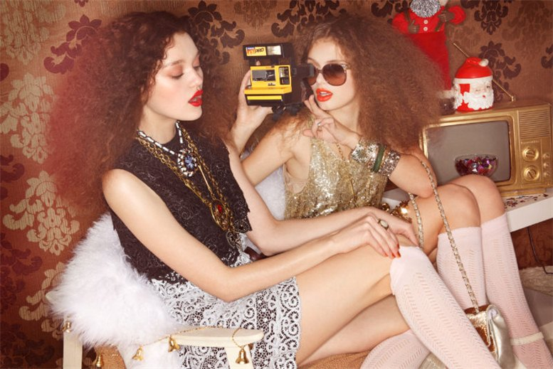 модель Катя Кулыжка и Диана Руденок / Katja Kulyzhka and Diana Rudenok, фотограф Jamie Nelson