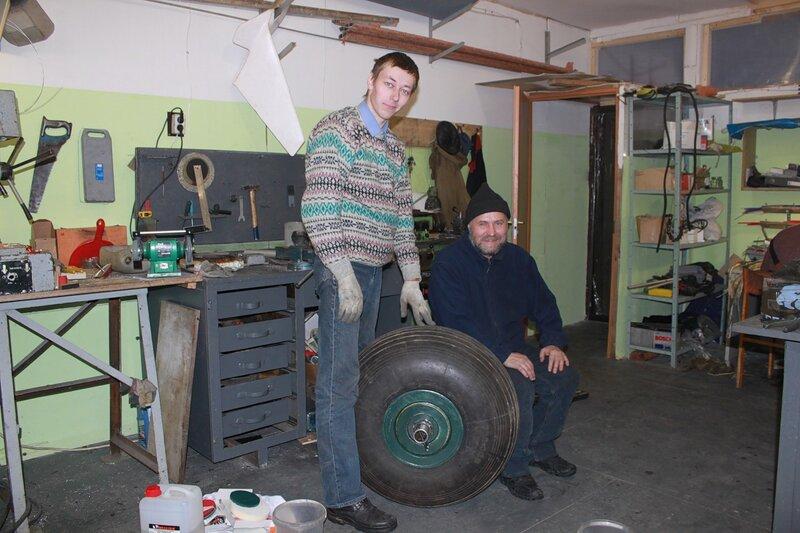 носовое колесо Ил-14Т
