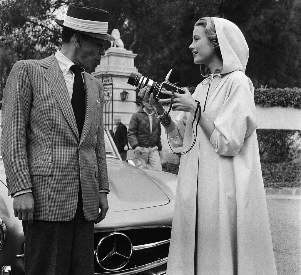 Frank Sinatra and Grace Kelly,1956