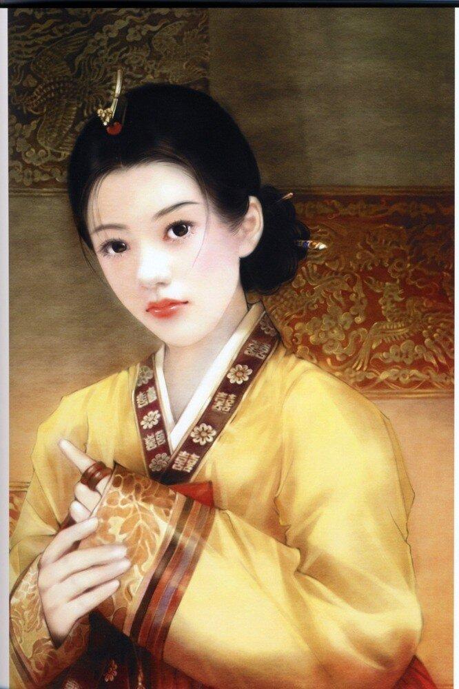 птице было фото китайских картин из волос актриса модель