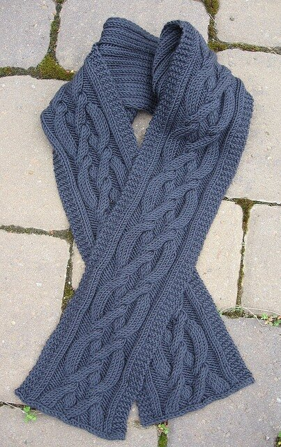 Acrylic Hand-Crochet Scarf (Акриловые ручного вязания крючком шарф.