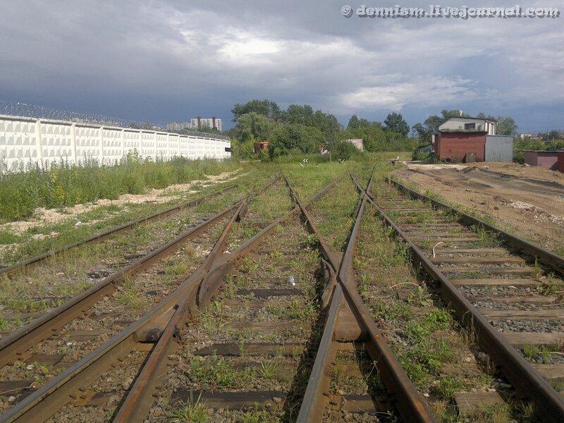 Промышленная станция Бусиново, южная горловина.