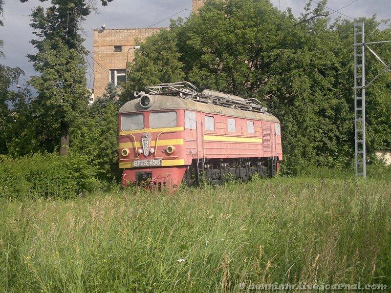 Электровоз-памятник ВЛ23-456, территория ПТОЛ Ховрино.