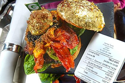 В Лондоне был приготовлен самый дорогой в мире гамбургер