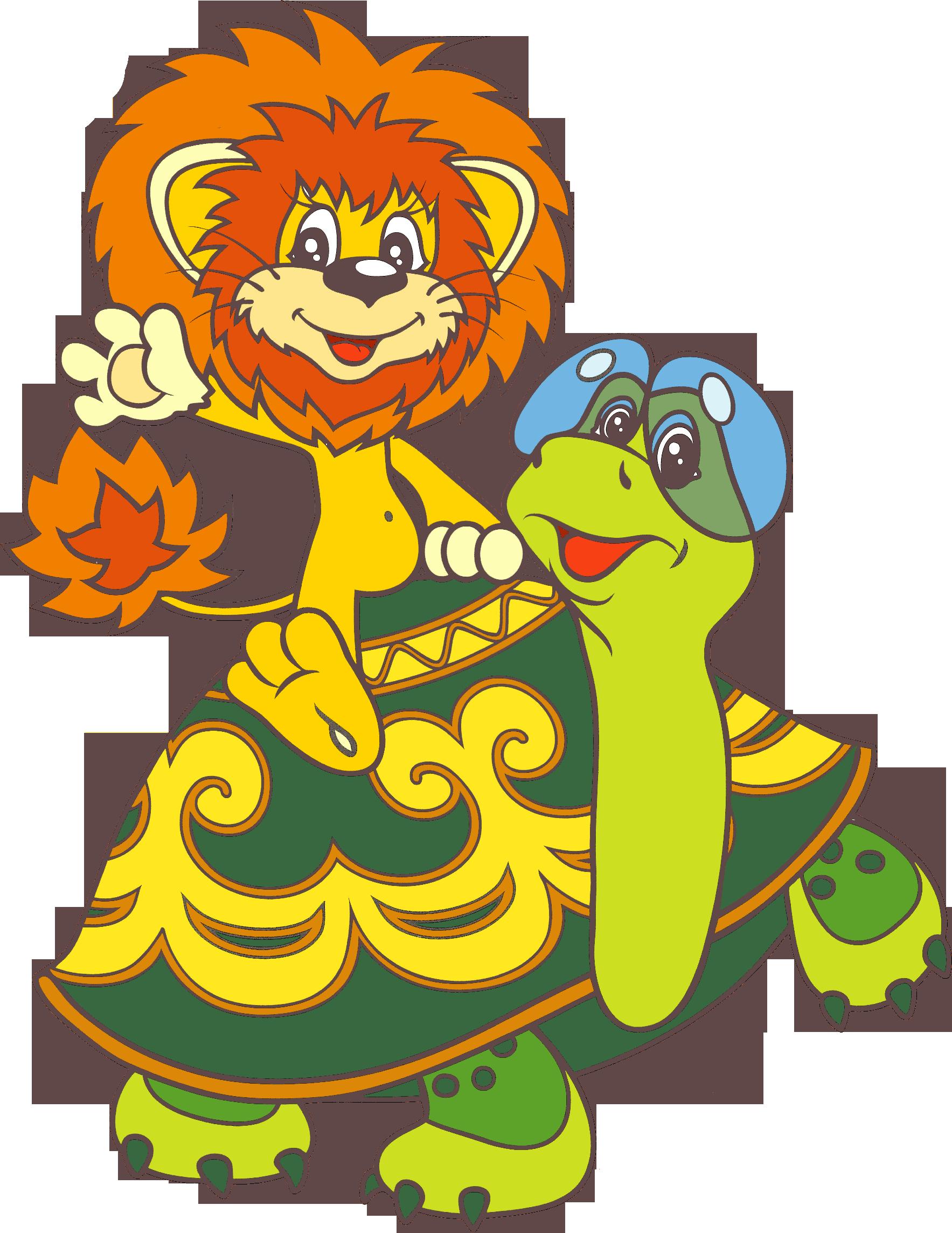 Черепаха и львенок 9 фотография