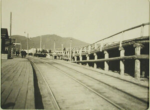 Вид части воинской платформы  на станции. Иркутская обл. Байкал ст.