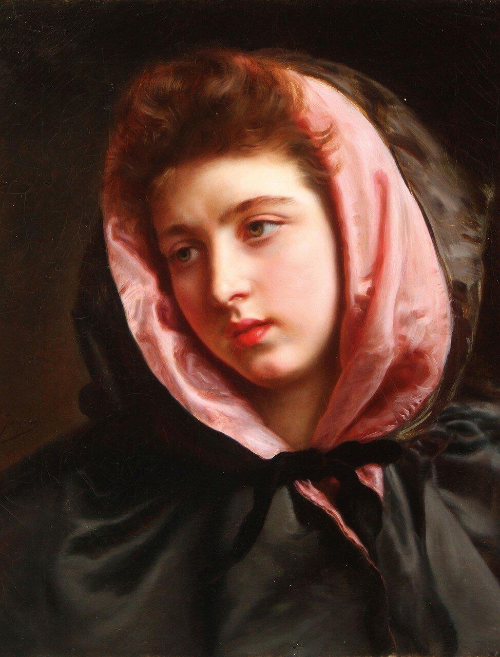 Коллекция авторских работ Девушка в зелёном шарфе