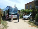Стоянка для автобуса у пансионата ДЕАЗ