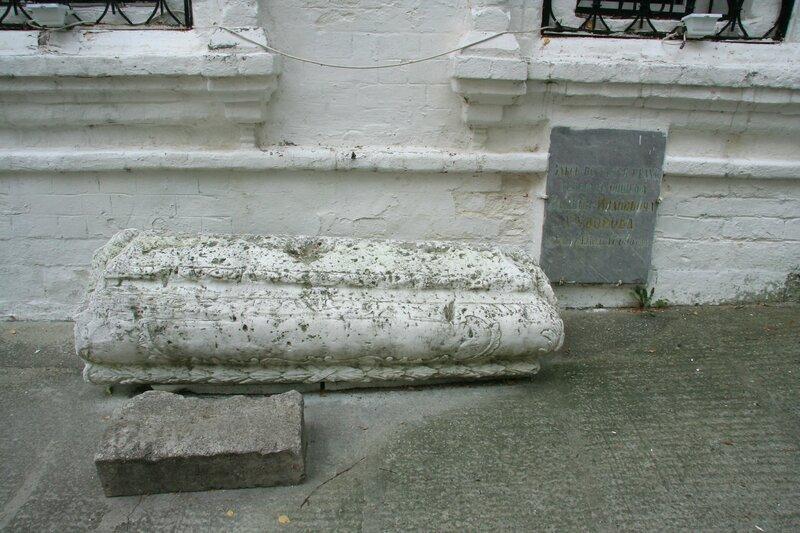 Надгробие на могиле В.И.Суворова