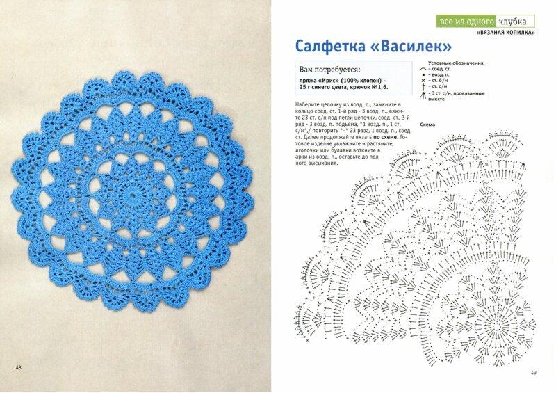 Вязание крючком салфетки схемы и описание с фото для начинающих 30