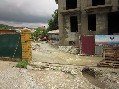 Дом в Кабардинке после наводнения