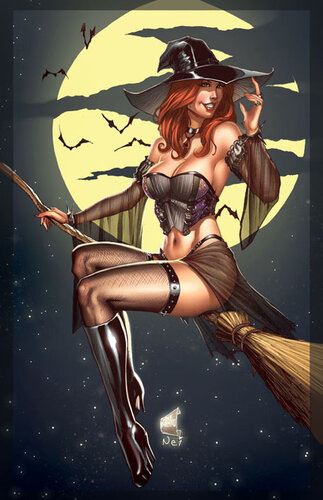 Ведьма на метле.: fotki.yandex.ru/users/posmetnaia-el/view/503340?page=0