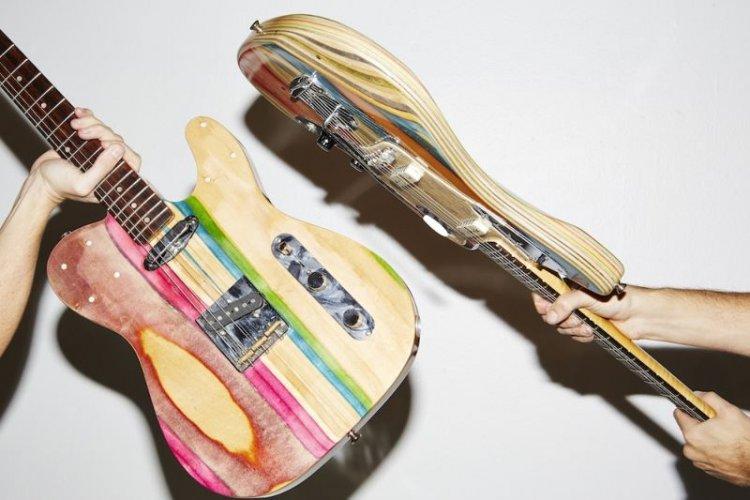 Гитара из скейта