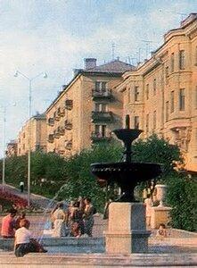 Фонтан на Ленина, фото В.Монина, 1967
