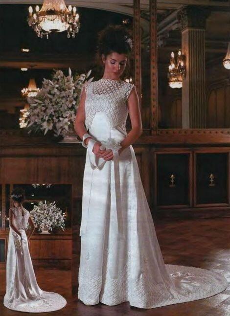платье свадебное схемы вязанное