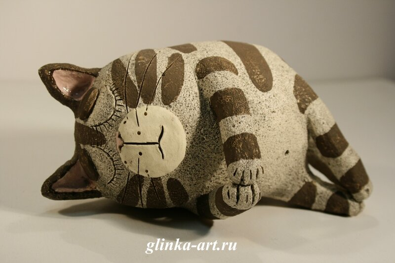 glinka-art.ru, авторская керамика, команда художников glinka-art, кот, кошка