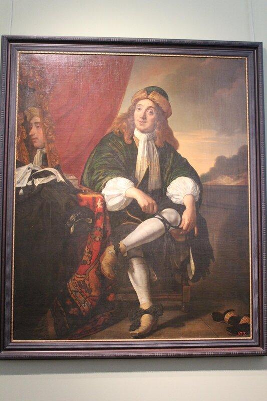 Портрет мужчины, завязывающего подвязку (Бартоломеус ван дер Хелст)