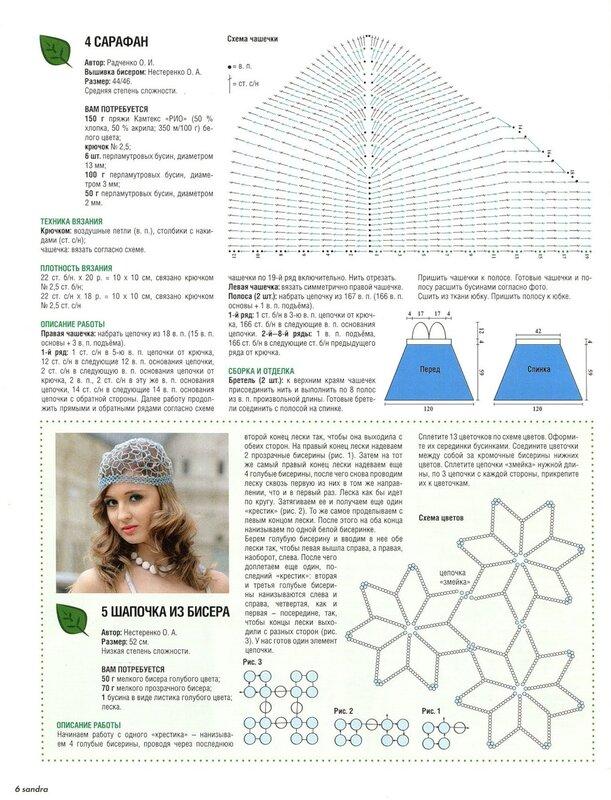 шапка из бисера схема — шапка