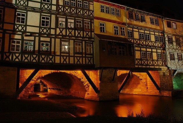 Мост Лавочников в Эрфурте. Германия