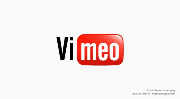 логотип Vimeo выглядит как Youtube - бренды которые поменяли местами
