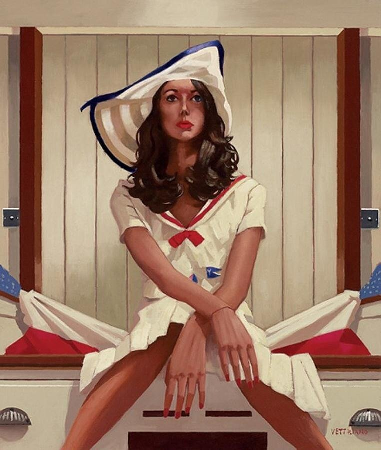 Below Deck  by Jack Vettriano