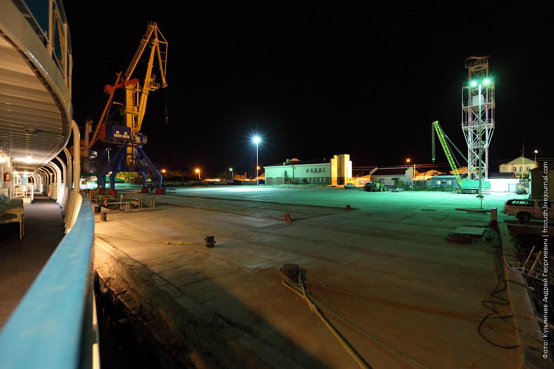 ночное фото порт Баутино