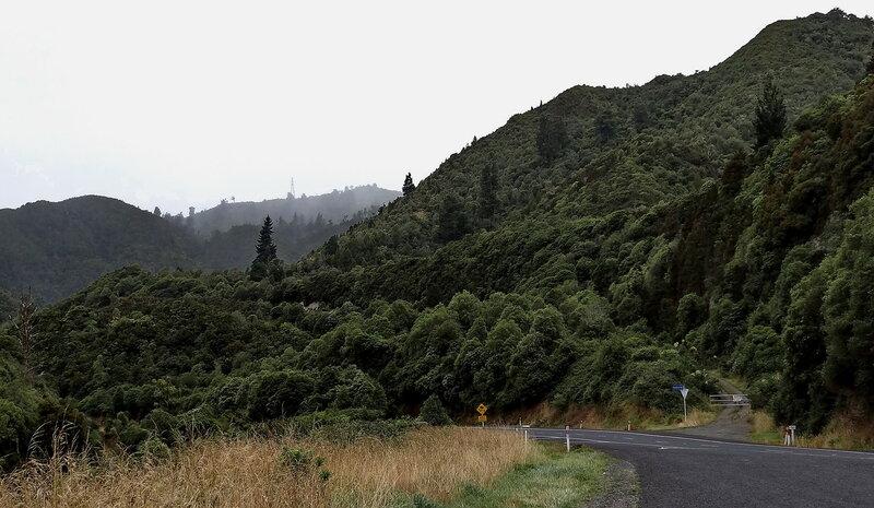В горах во время дождя...