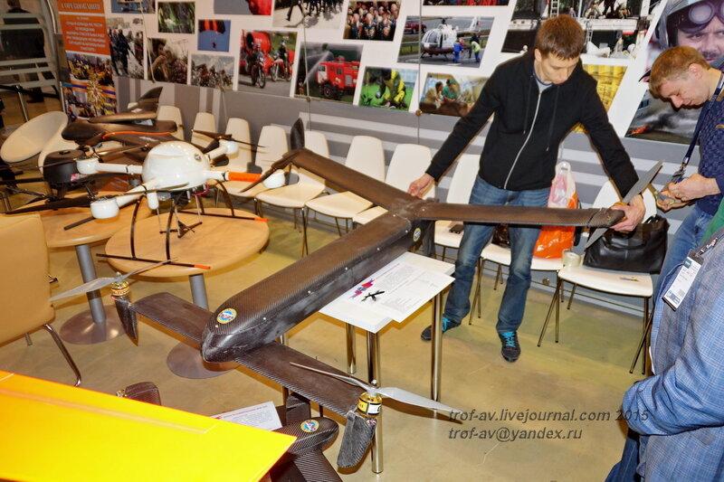 Беспилотник конвертоплан, Выставка Комплексная безопасность 2015, Москваь 2015, Москва