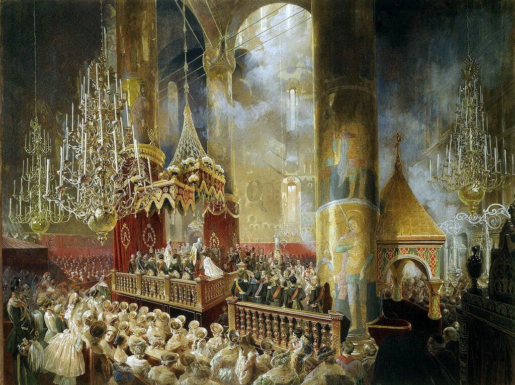 часть 5 Эрмитаж: Зичи, Михай - Коронация Александра II в Успенском соборе Московского кремля 26 августа 1856 года