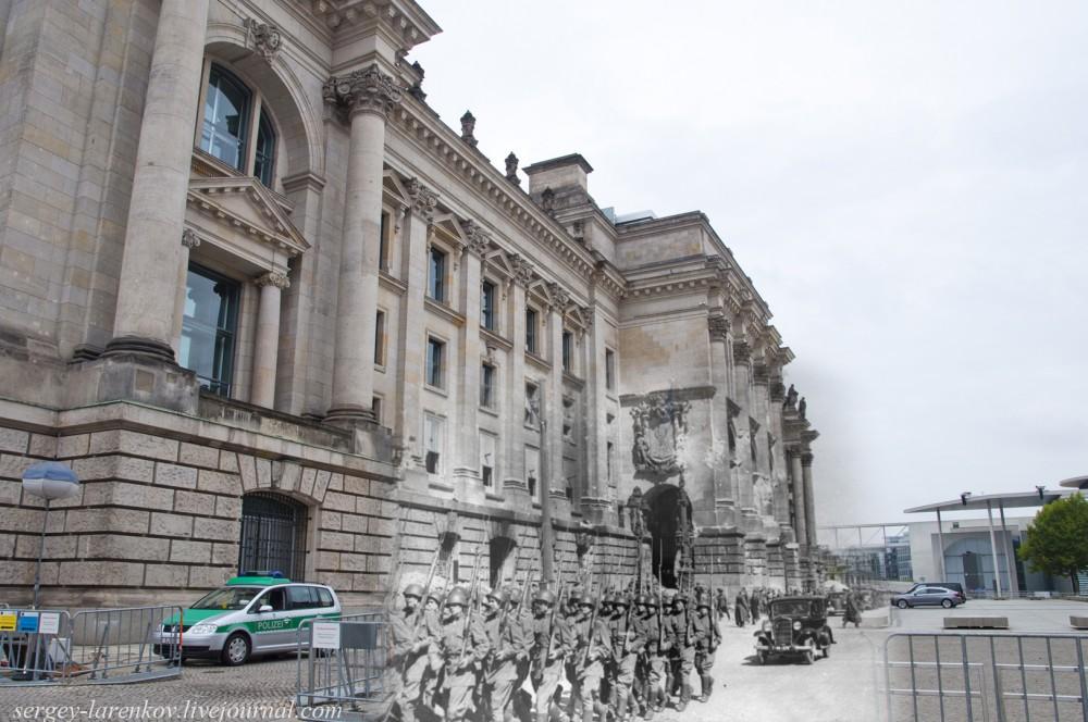 4 Берлин 1945-2014. Советские солдаты у Рейхстага..jpg