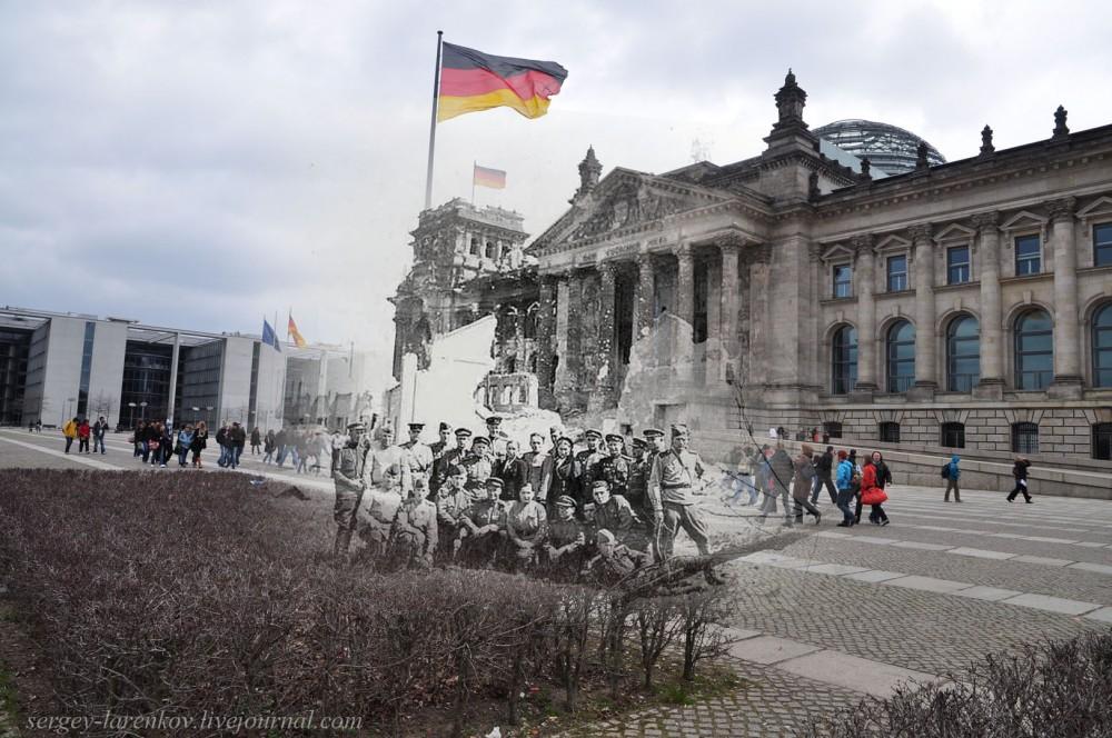 21 Берлин 1945-2010. Солдаты у Рейхстага..jpg