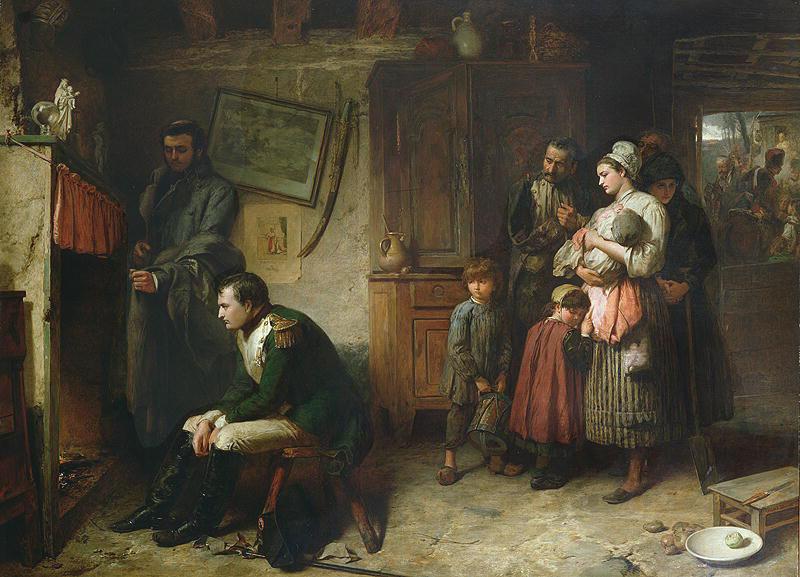Маркус Стоун. Возвращение из Ватерлоо в Париж. 1863 г.